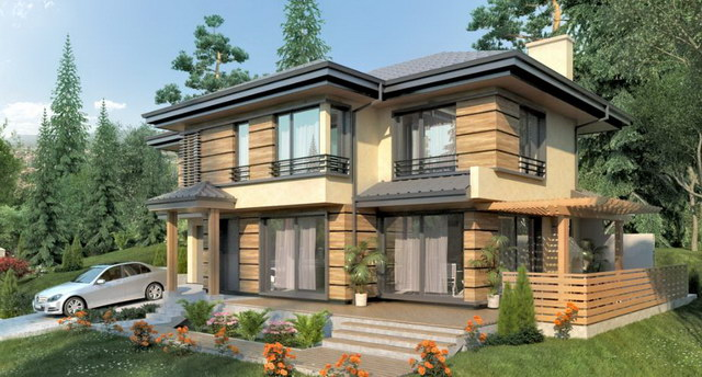 nature modern hip roof house (1)