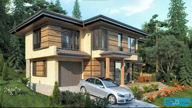 nature modern hip roof house (2)