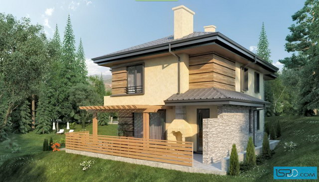 nature modern hip roof house (3)
