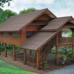 แบบบ้านไทยทรงใต้ถุน ออกแบบโปร่งโล่งอยู่สบาย ดีไซน์ดั้งเดิมกลางธรรมชาติ