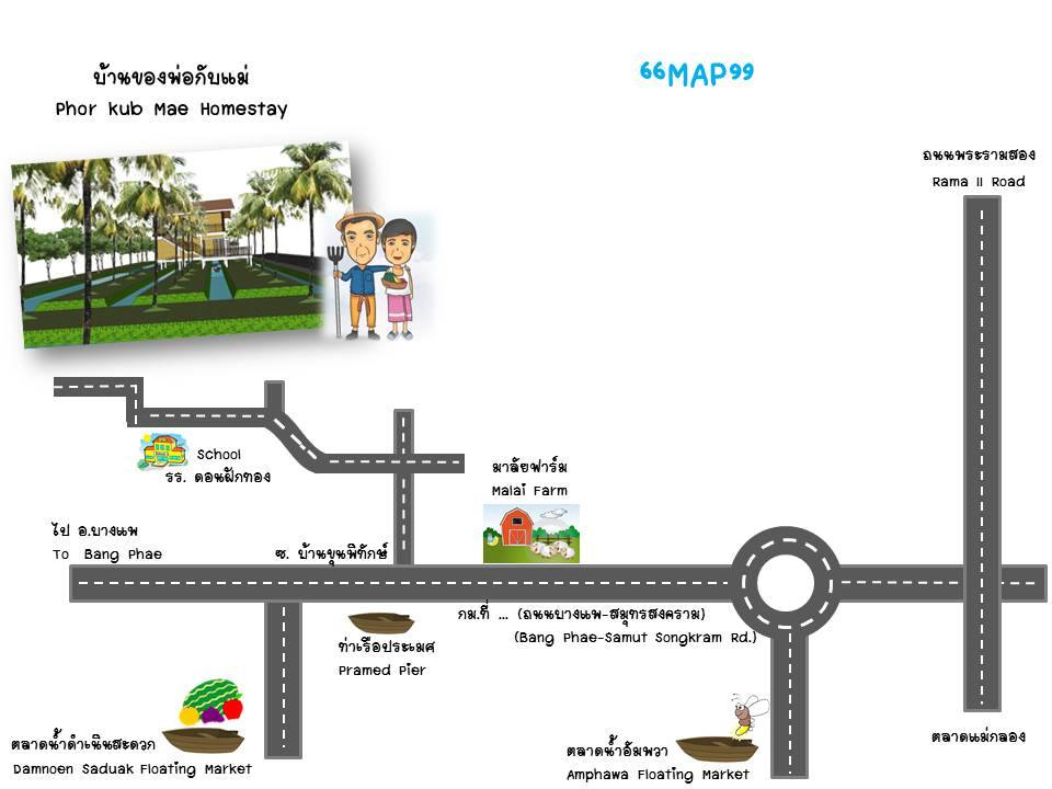 phor kub mae home stay review map