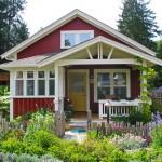 แบบบ้านคอทเทจสีแดง ดีไซน์น่ารักโดนใจ พร้อมเฉลียงใต้ชายคาแสนสบาย