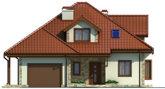 single hip roof family house (1)