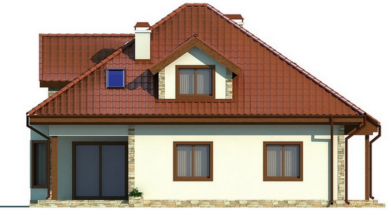 single hip roof family house (2)