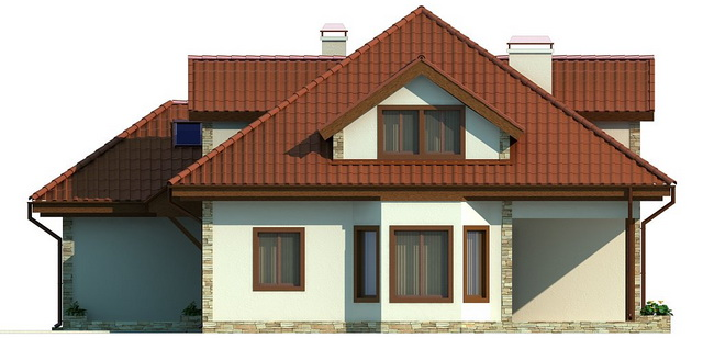 single hip roof family house (3)