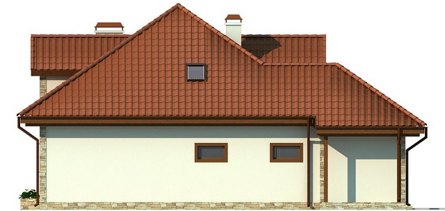 single hip roof family house (4)