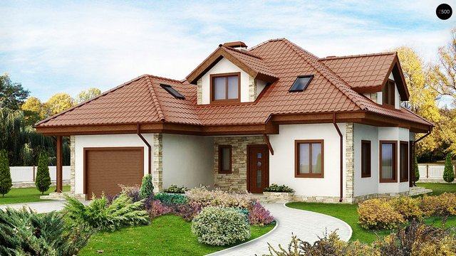 single hip roof family housee (1)