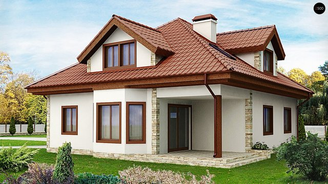 single hip roof family housee (2)