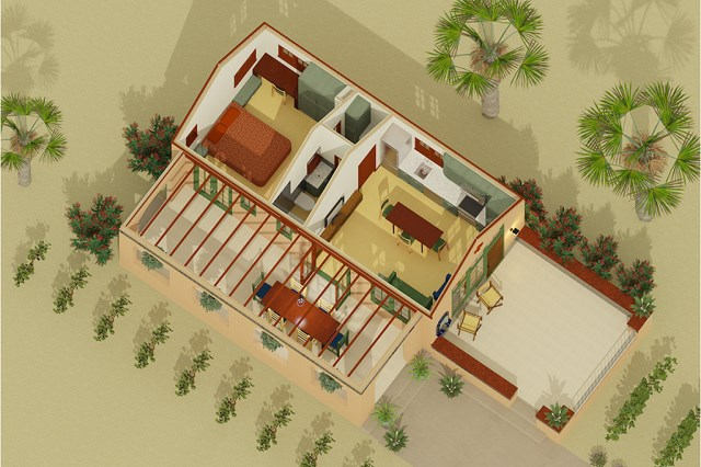 small compact House Italian style (1)