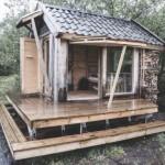 กระท่อมบ้านสวน จากวัสดุรีไซเคิล เหมาะกับการประยุกต์ทำเป็นรีสอร์ท