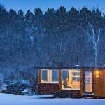 บ้านสตูดิโอ สไตล์เคบิน ขนาดเล็กกะทัดรัด ตกแต่งด้วยไม้และเหล็ก ในงบ 1 แสนบาท