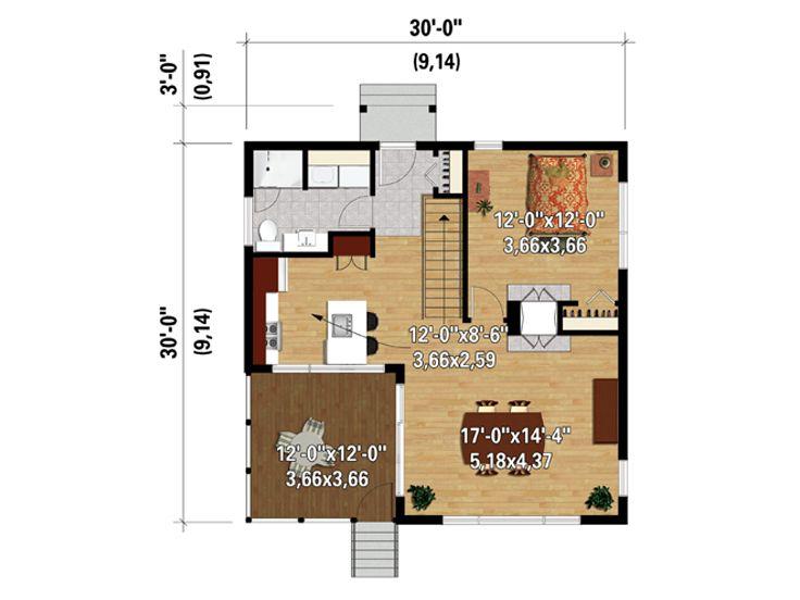 tiny modern house wooden decor (1)