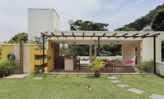 two-story house Modern style green roof house (7)