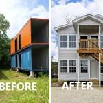 """Review : สร้างบ้านสองชั้นจาก """"ตู้คอนเทนเนอร์"""" สวยยิ่งกว่าบ้านปูนทั่วไปซะอีก!!"""
