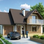 บ้านสองชั้นสไตล์ร่วมสมัย หลังคาทรงจั่ว ออกแบบภายนอกถึง 4 รูปแบบ