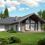 บ้านร่วมสมัย สวยงามทั้งภายในและนอก ตกแต่งจากไม้และกระจกบานใหญ่