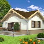 บ้านเดี่ยวร่วมสมัยขนาดกะทัดรัด ออกแบบคู่หลังคาจั่ว รับกับครอบครัวแรกเริ่ม