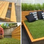 """DIY : มาดูชายหนุ่มทำ """"เตียงหญ้าสำหรับนอนเล่น"""" ไว้พักผ่อนสบายๆ ในพื้นที่โล่งหลังบ้าน"""