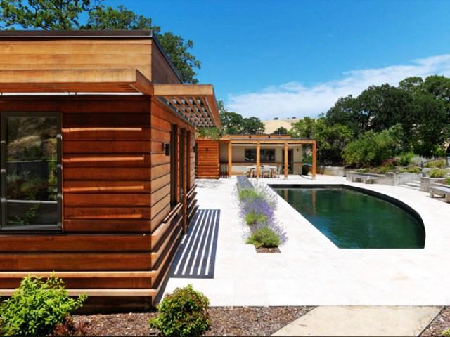 wooden Villa with pool hillside (10)