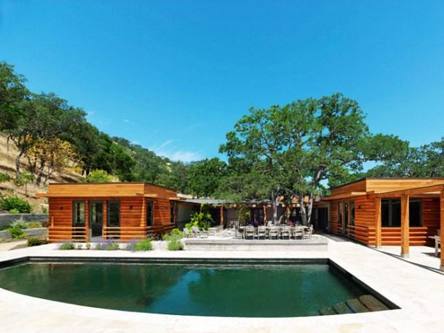 wooden Villa with pool hillside (12)
