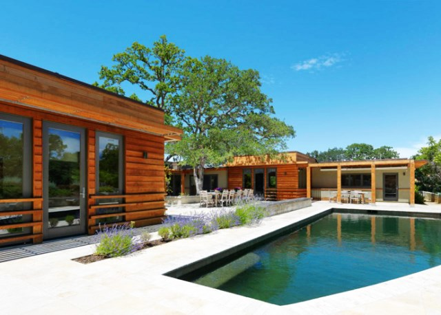 wooden Villa with pool hillside (14)