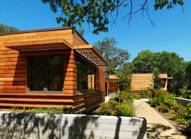 wooden Villa with pool hillside (6)