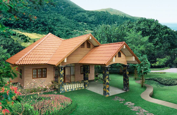 1 floor country natural house