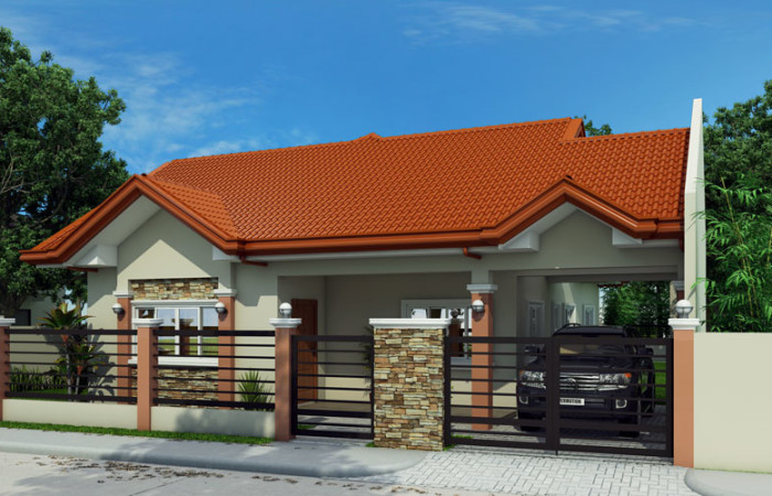 1 floor sandstone single house plan (3)
