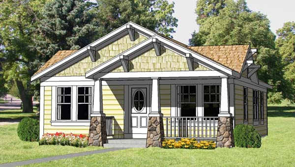 1 storey traditional cottage house plan (1)