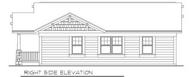 1 storey traditional cottage house plan (4)