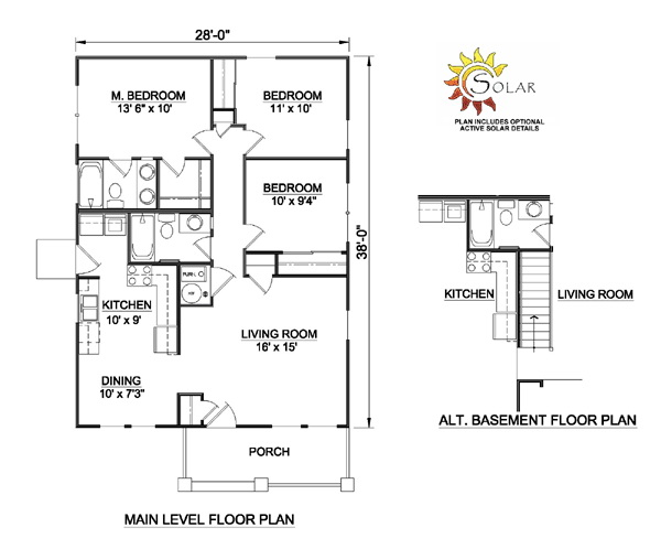 1 storey traditional cottage house plan