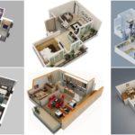 """10 ไอเดีย """"แบบบ้านขนาดเล็ก"""" ในรูปแบบ 3 มิติ พร้อมการจัดวางเฟอร์นิเจอร์และการใช้โทนสี"""