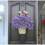 10 ไอเดียตกแต่งประตูบ้าน ด้วยกระเช้าดอกไม้ ในรูปแบบ DIY