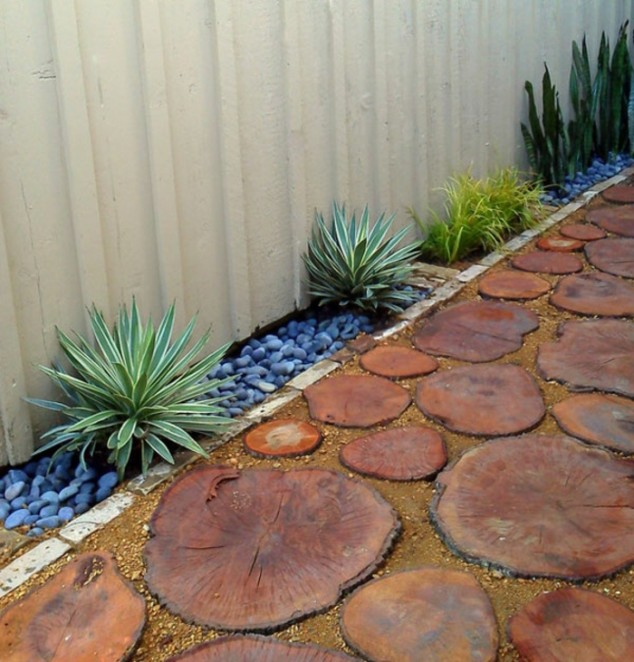 15 creative round stepping path ideas for garden (13)
