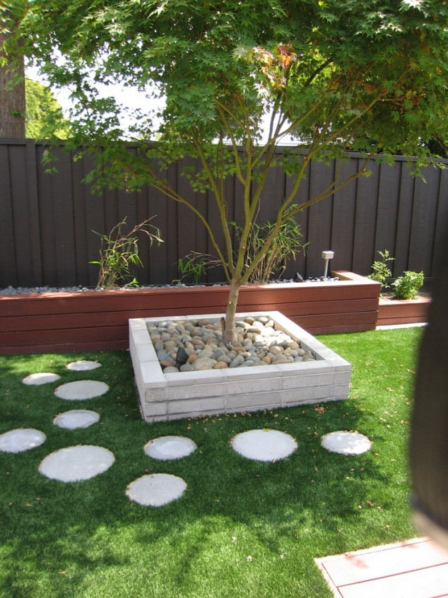 15 creative round stepping path ideas for garden (14)
