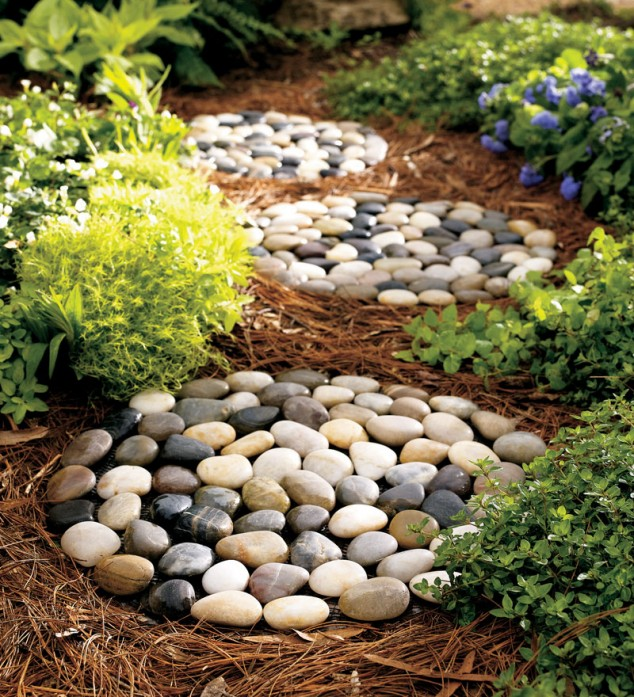 15 creative round stepping path ideas for garden (3)