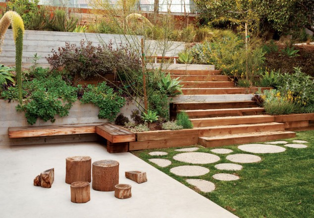 15 creative round stepping path ideas for garden (4)