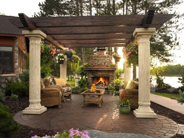 17 nice pergola terrace ideas (4)