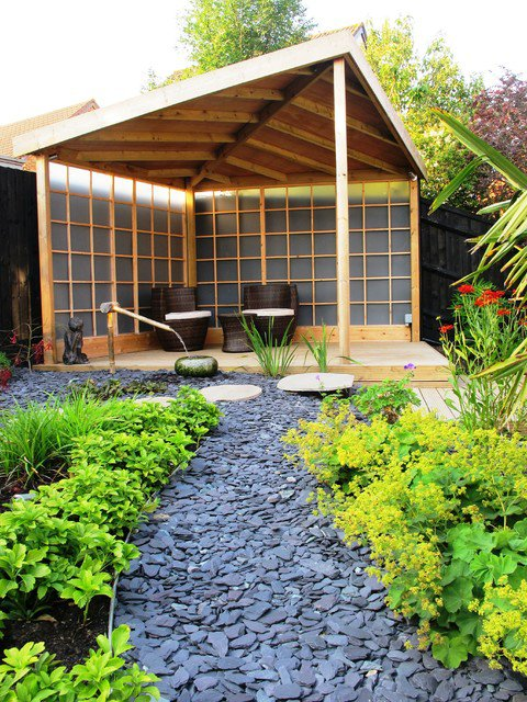 18 landscape designs with rocks stones (17)
