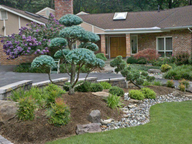18 landscape designs with rocks stones (2)