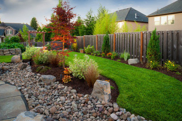 18 landscape designs with rocks stones (6)
