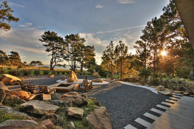 18 landscape designs with rocks stones (8)