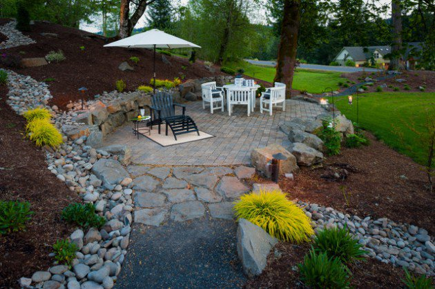 18 landscape designs with rocks stones (9)