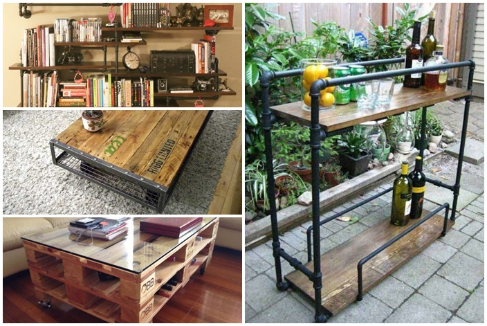 19 diy industrial furniture for home (13)
