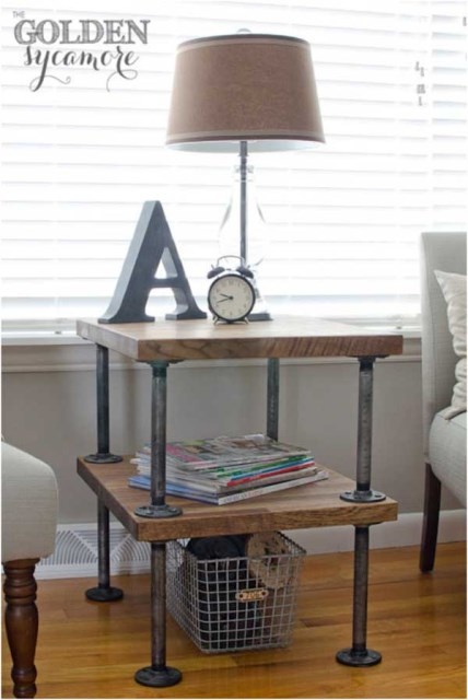 19 diy industrial furniture for home (15)