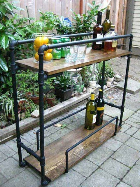 19 diy industrial furniture for home (17)