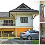 สร้างบ้านสองชั้นทรงไทยประยุกต์ 2 ห้องนอน 3 ห้องน้ำ งบประมาณ 1.4 ล้านบาท