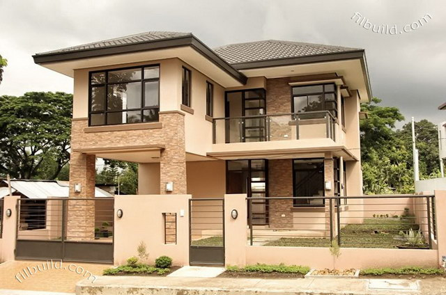 2 storey earth tone contemporary house (1)