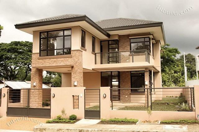 2 storey earth tone contemporary house (1)