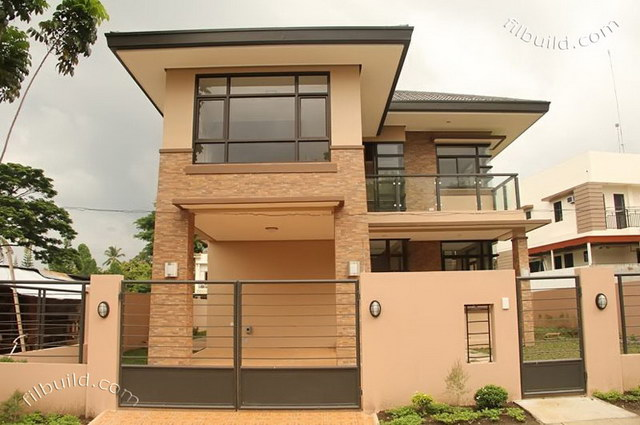 2 storey earth tone contemporary house (2)